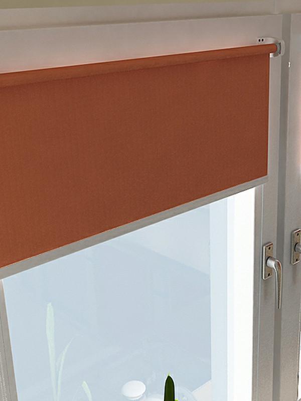 Ovenlys Rullegardin - Ensfarvede